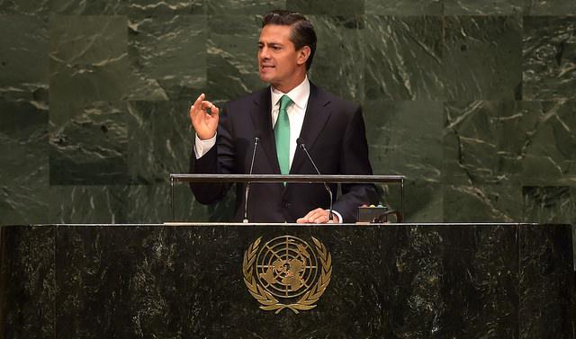 Enrique Peña en la Asamblea General de Naciones Unidas. Imagen compartida en Flickr por la Presidencia de la República, utilizada en términos de licencia Creative Commons.