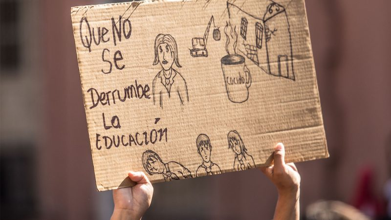 Protest banner for the right to education. Image from Kurtural, published with permission.