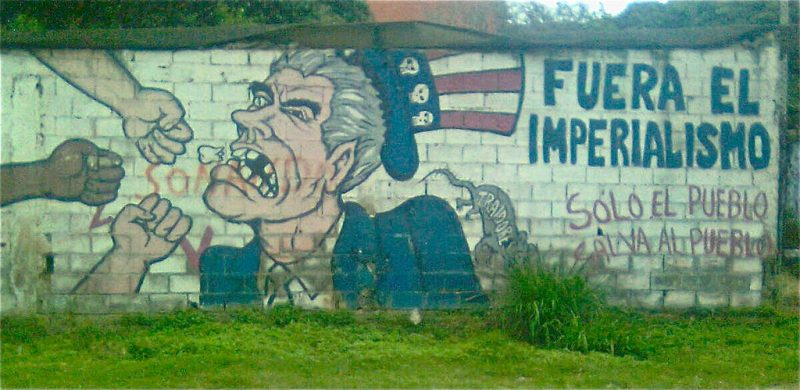 Political graffiti in Caracas. FOTO: Erik Cleves Kristensen (CC BY 2.0)