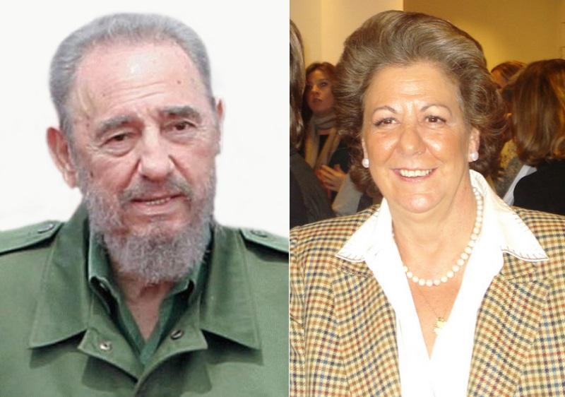 Fidel Castro y Rita Barberá