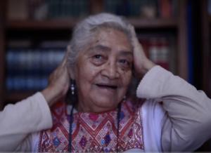 Osbelia Quiroz. Pantallazo del documental Batalla de las Cacerolas.