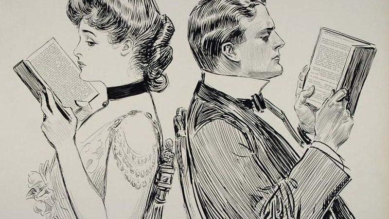 Imagen: Impreso de 1914 de Charles Dana Gibson. Perteneciente al Dominio Público.
