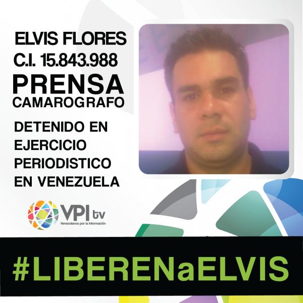Elvis Flores. Imagen de la campaña #LIBERENaELVIS promovida por VPITV.
