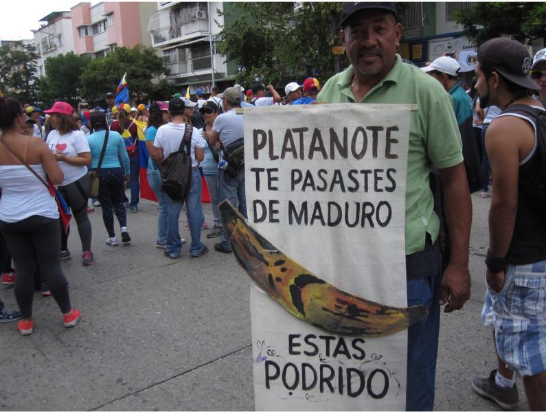 """""""Platanote, te pasaste de Maduro. Estás podrido"""". Foto tomada por el autor, Rafel Uzcategui."""