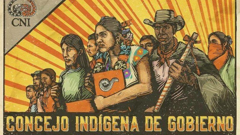 Imagen tomada de la cuenta de Twitter del Congreso Nacional Indigena: @CNI_Mexico