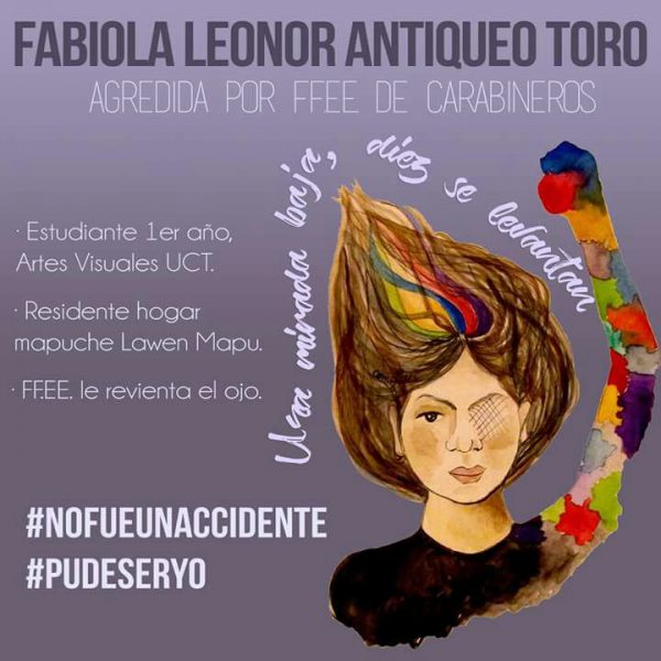 Poster of the campaign that seeks justice for Fabiola Antiqueo. Shared on social networks.