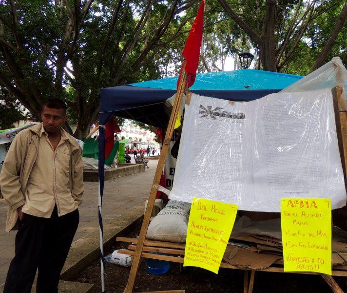 Sergio, encargado de un centro de acopio en Oaxaca. Imagen del autor.